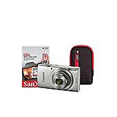 Canon IXUS 175 Silver Camera Kit inc 16GB SD Card and Case