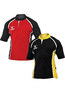 Gilbert Xact Two Tone Match Rugby Shirt - Black