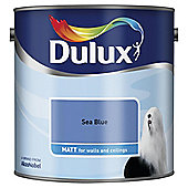 Dulux Matt Emulsion Paint, Sea Blue, 2.5L