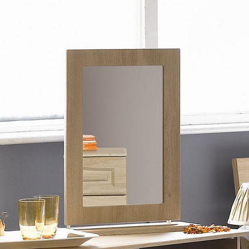 Alto Furniture Visualise Bordeaux Mirror in Oak