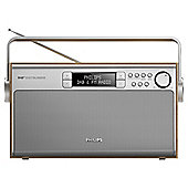 Philips AE5220 Stereo DAB Radio Wood Effect/Silver