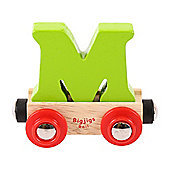 Bigjigs Rail Rail Name Letter M (Green)