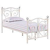 Home Zone Florence Single Bed Frame - White