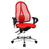 Topstar Sitness Swivel Chair with Mesh Cover in Red