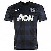 2013-14 Man Utd Away Nike Football Shirt - Navy