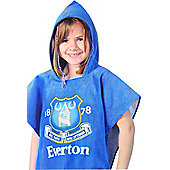 Everton Fc Football Official Hooded Poncho Towel
