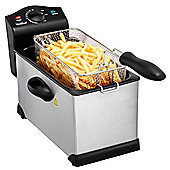 VonShef 3L Stainless Steel Deep Fat Fryer