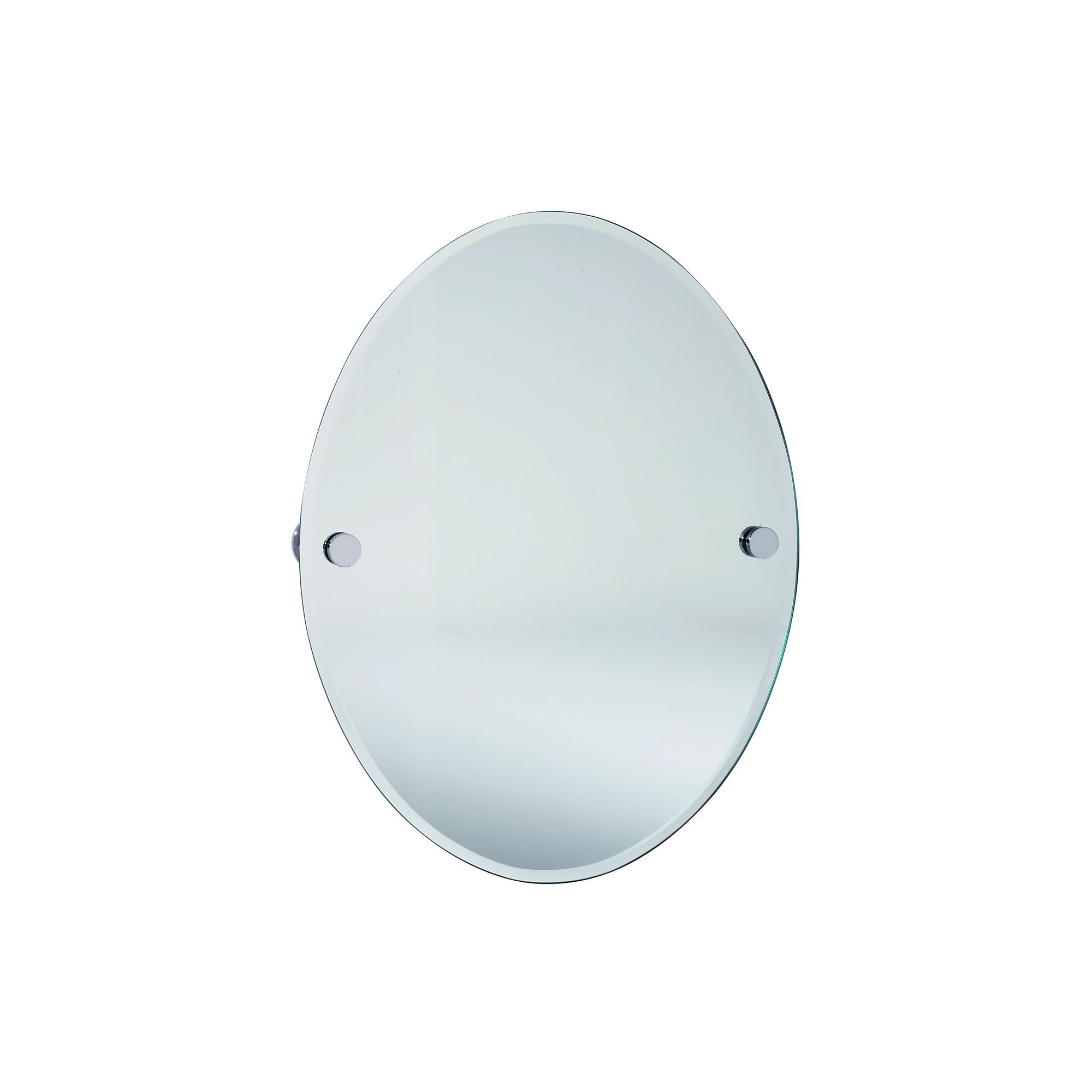 Smedbo Loft Oval Bathroom Mirror - Brushed Chrome at Tesco Direct