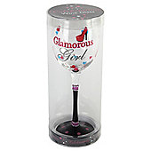Glamour Girl Wine Glass