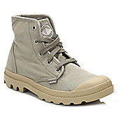 Palladium Womens Concrete & Putty Pampa Hi Canvas Trainers - Grey