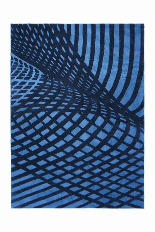 Esprit Vector Turquoise Contemporary Rectangular Rug