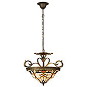 Arcade 50cm x 56cm Tiffany Three Light Hanging Lantern