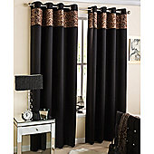 Enhanced Living Kensington Eyelet Leopard Curtains 117X137cm