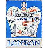 Love London Tin Sign