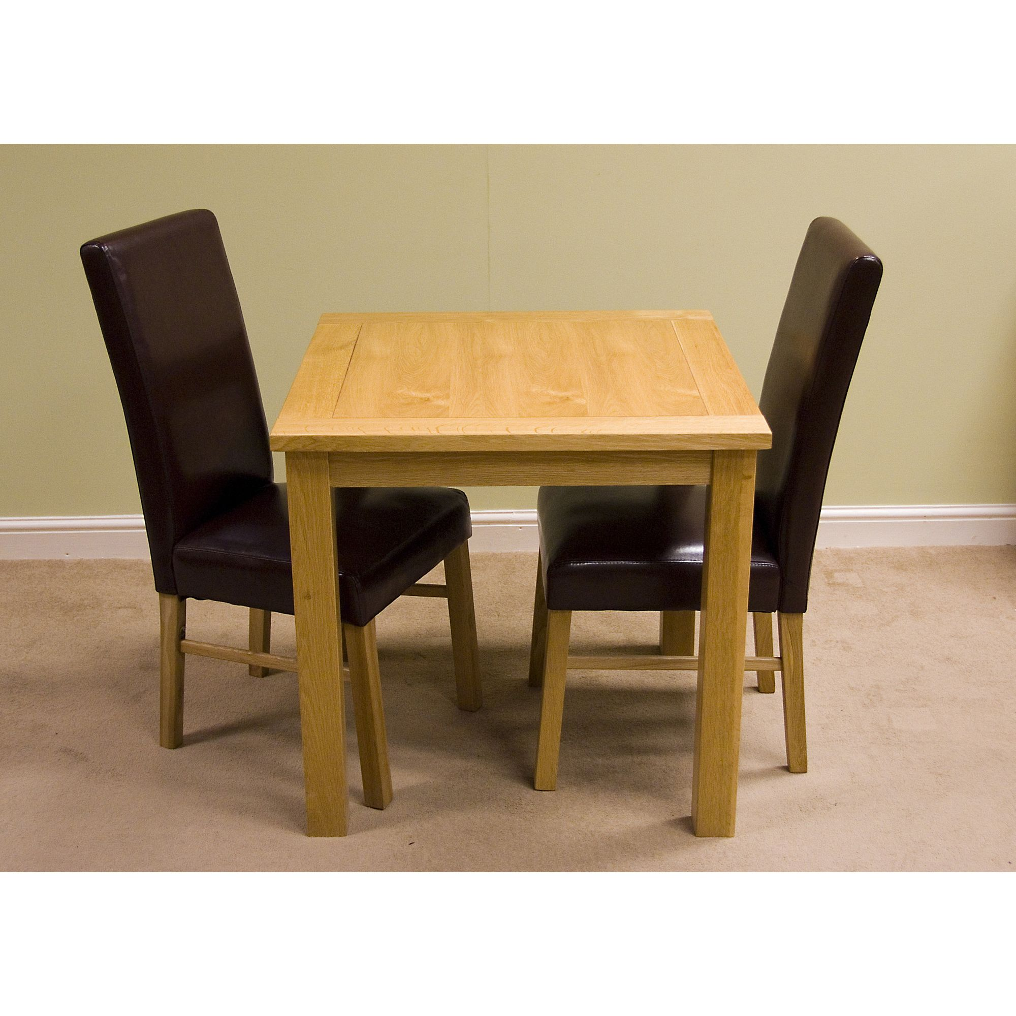 G&P Furniture Lyon Oak 3-Piece Small Fixed Top Dining Set at Tesco Direct