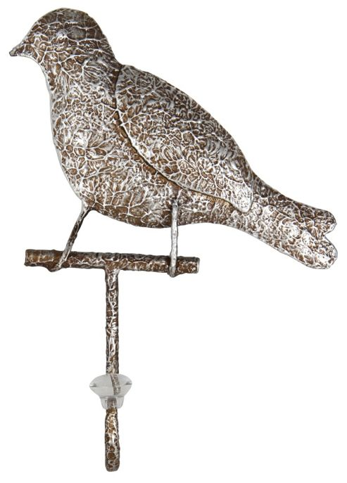 Pacific Lifestyle Bird Metal Art with Hook