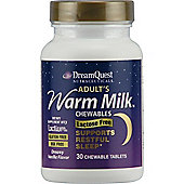 Natures Plus Adults Warm Milk Chewable 30 Tablets