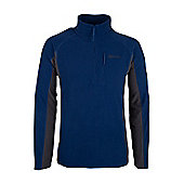 Ashbourne Mens Walking Hiking Thermal Warm Fleece - Blue