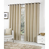 Fusion Sorbonne Eyelet Lined Curtains Natural - 90x90