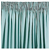 Plain Canvas Lined Pencil Pleat Curtains - Eau de nil
