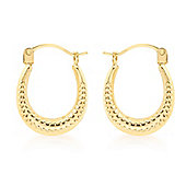 9ct Yellow Gold Creole Earrings