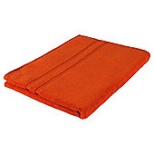 Tesco 100% Combed Cotton Bath Sheet Orange