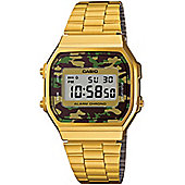 Casio Unisex Stainless Steel Stopwatch Watch A168WEGC-5EF