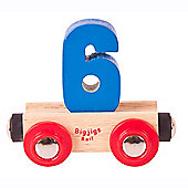 Bigjigs Rail BR136 Name Number 6 (Colours Vary)