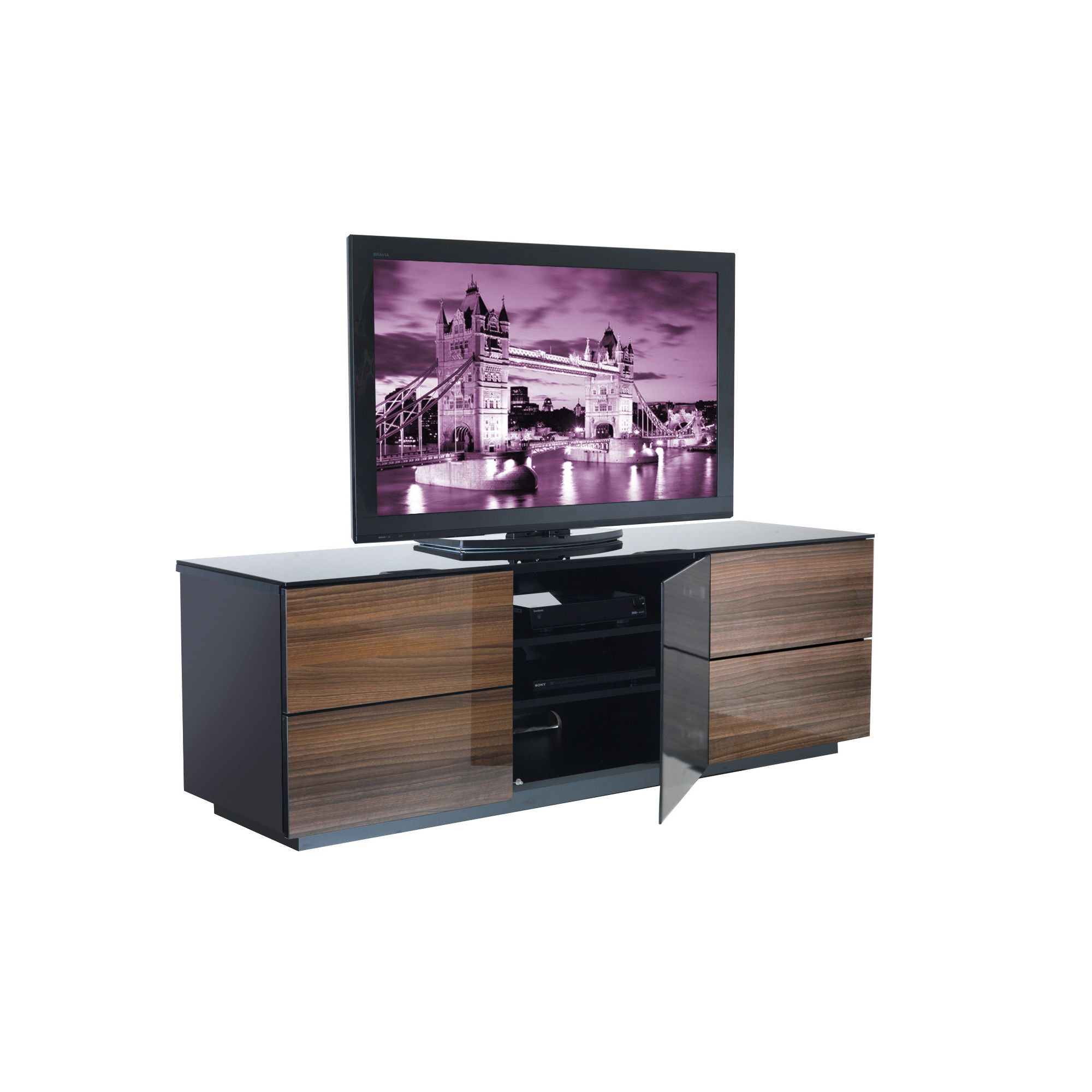 UK-CF City Scape London TV Stand - Walnut at Tesco Direct
