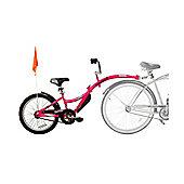 Weeride Pink Co-Pilot Tagalong Bike