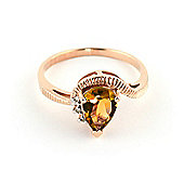 QP Jewellers Diamond & Citrine Belle Diamond Ring in 14K Rose Gold