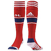 Adidas Childrens Olympique Lyon Football Club Away Socks - Red