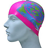 Speedo Slogan Junior Silicone Swimming Cap - Pink