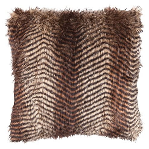 F&F Home Pheasant Faux Fur Cushion