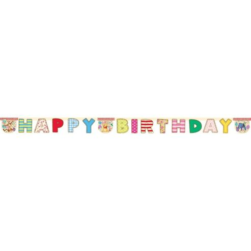 Party - Winnie The Pooh Paper Happy Birthday Banner - 2.4m - Amscan