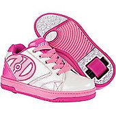 Heelys Propel 2.0 White/Pink/Silver Kids Heely Shoe - White