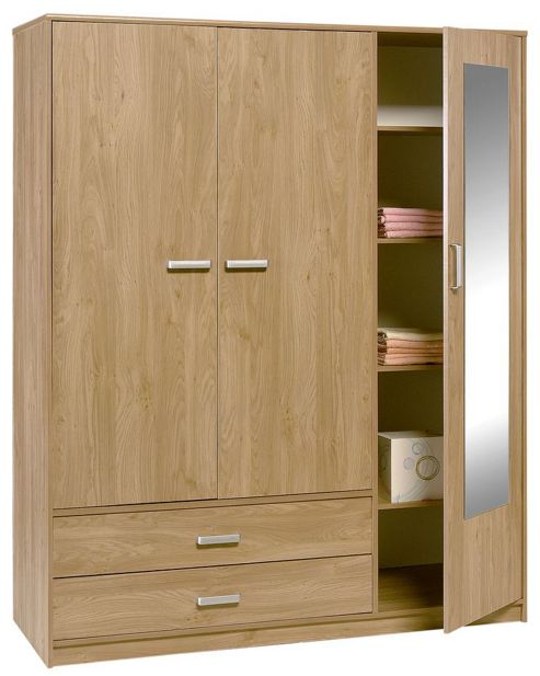 Altruna Frucha 3 Door 2 Drawer Wardrobe