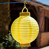 Yellow LED Solar Powered Chinese Hanging Lantern