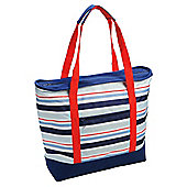 Tesco  Stripe Shoulder Tote Cooler