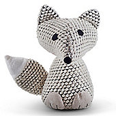 Knitted Look Cream Fabric Fox Doorstop Home Accessory