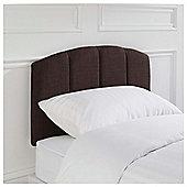 Seetall Padstow Headboard Linen Effect Brown Single