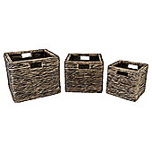 Water Hyacinth  Set Of 3 Baskets
