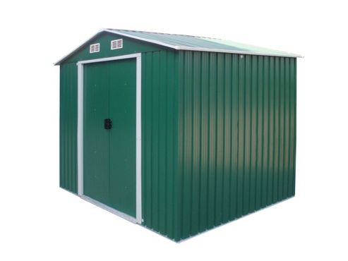 Buy bentley metal garden shed 8x6ft from our metal sheds for Garden shed tesco