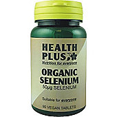 Health Plus Organic Selenium 50ugVegan 90 Veg Tablets