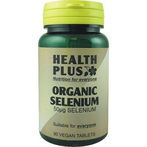 Health Plus Organic Selenium 50ugVegan 90 Veg Tablets
