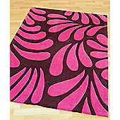 Origin Red Lily Plum Rug - 170cm x 120cm
