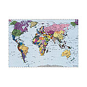 Komar World Map Wall Mural - 270 x 188 cm
