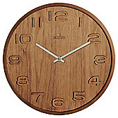 Acctim Reece Contemporary Wood Effect Wall Clock Walnut