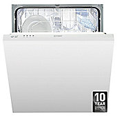 Indest DIF04B1 Full size Integrated Dishwasher, A+ Energy Rating, White