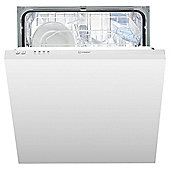 Indest DIF04B1 Built In, Full Integrated Dishwasher, A+ Energy Rating, White